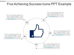 Five Achieving Success Icons Ppt Example Powerpoint Slide Show