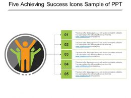 Five Achieving Success Icons Sample Of Ppt