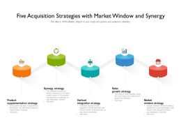 Five Acquisition Strategies With Market Window And Synergy