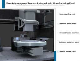 Five Advantages Of Process Automation In Manufacturing Plant