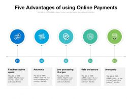 Five Advantages Of Using Online Payments