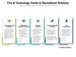Five Ai Technology Trends In Recruitment Solutions