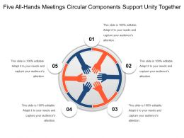 Five All Hands Meetings Circular Components Support Unity Together