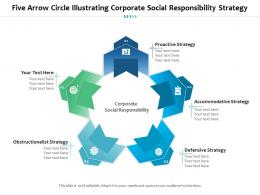 Five Arrow Circle Illustrating Corporate Social Responsibility Strategy