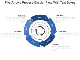 Five Arrows Process Circular Flow With Text Boxes