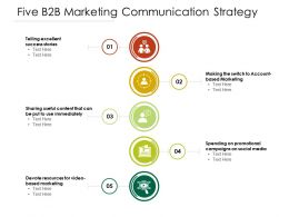Five B2B Marketing Communication Strategy