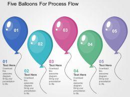 five_balloons_for_process_flow_flat_powerpoint_design_Slide01