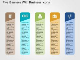 five_banners_with_business_icons_flat_powerpoint_design_Slide01