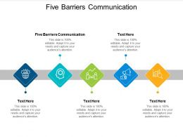 Five Barriers Communication Ppt Powerpoint Presentation Inspiration Cpb