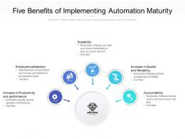Five Benefits Of Implementing Automation Maturity