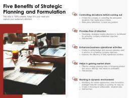 Five Benefits Of Strategic Planning And Formulation