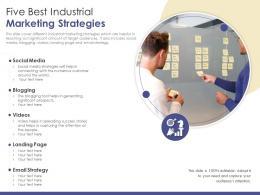 Five Best Industrial Marketing Strategies