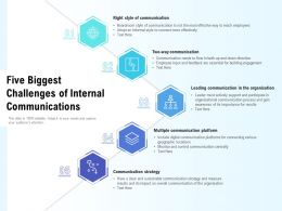 Five Biggest Challenges Of Internal Communications