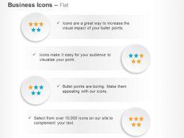 five_blocks_feedback_stars_ppt_icons_graphics_Slide01