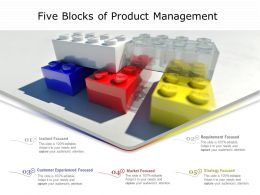 Five Blocks Of Product Management
