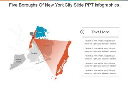 Five Boroughs Of New York City Slide Ppt Infographics