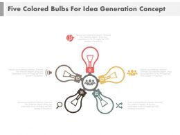 Five Bulbs In Circle For Idea Generation Powerpoint Slides