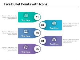 Five Bullet Points With Icons