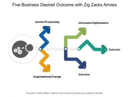Five Business Desired Outcome With Zig Zacks Arrows