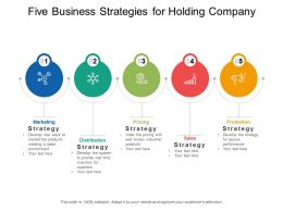 Five Business Strategies For Holding Company