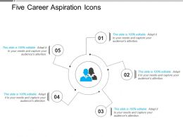 Five Career Aspiration Icons Powerpoint Slide Deck