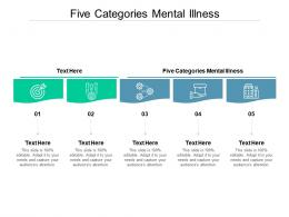 Five Categories Mental Illness Ppt Powerpoint Presentation Infographics Aids Cpb