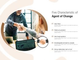 Five Characteristic Of Agent Of Change