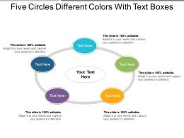 Five Circles Different Colors With Text Boxes