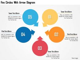 Five Circles With Arrow Diagram Flat Powerpoint Design