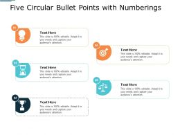 Five Circular Bullet Points With Numberings