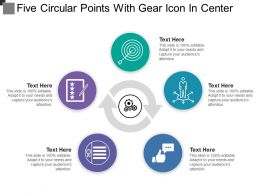 Five Circular Points With Gear Icon In Center