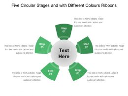 Five Circular Stages And With Different Colours Ribbons
