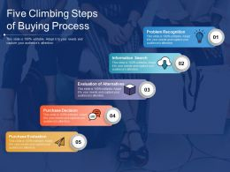 Five Climbing Steps Of Buying Process