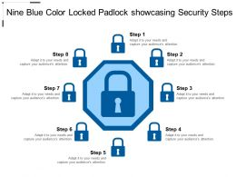 Five Colored Circle Locked Padlock Text Boxes