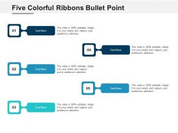 Five Colorful Ribbons Bullet Point