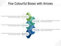 Five Colourful Boxes With Arrows