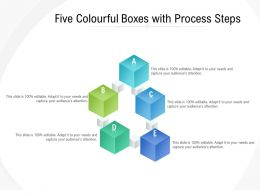 Five Colourful Boxes With Process Steps