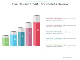 Five Column Chart For Business Review Powerpoint Slide Designs