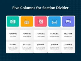 Five Columns For Section Divider