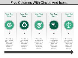 Five Columns With Circles And Icons