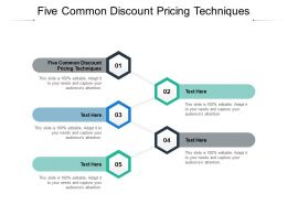 Five Common Discount Pricing Techniques Ppt Powerpoint Presentation Microsoft Cpb