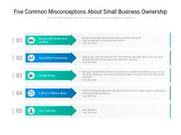 Five Common Misconceptions About Small Business Ownership
