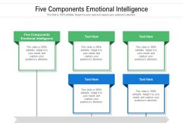 Five Components Emotional Intelligence Ppt Powerpoint Presentation Show Background Cpb
