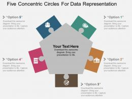 Five Concentric Circles For Data Representation Flat Powerpoint Design