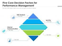 Five Core Decision Factors For Performance Management