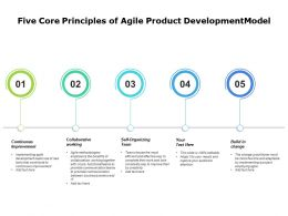 Five Core Principles Of Agile Product Development