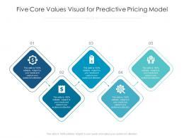 Five Core Values Visual For Predictive Pricing Model Infographic Template