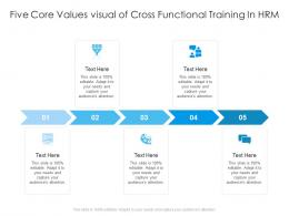 Five Core Values Visual Of Cross Functional Training In HRM Infographic Template