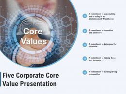 Five Corporate Core Value Presentation
