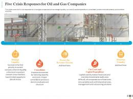 Five Crisis Responses For Oil And Gas Companies Revenues Streams Ppt Download